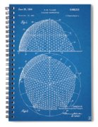 1954 Geodesic Dome Blueprint Patent Print Spiral Notebook