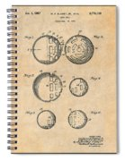 1954 Wiffle Ball Patent Print Antique Paper Spiral Notebook