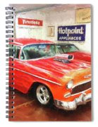 1955 Chevy Blower In The Gorage Spiral Notebook