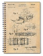 1960 Bombardier Snowmobile Antique Paper Patent Print Spiral Notebook