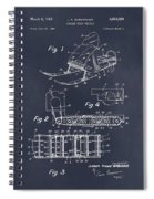 1960 Bombardier Snowmobile Blackboard Patent Print Spiral Notebook