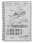 1960 Bombardier Snowmobile Gray Patent Print Spiral Notebook