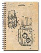 1960 Rolleiflex Photographic Camera Antique Paper Patent Print Spiral Notebook