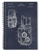 1960 Rolleiflex Photographic Camera Blackboard Patent Print Spiral Notebook