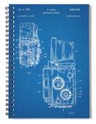 1960 Rolleiflex Photographic Camera Blueprint Patent Print Spiral Notebook