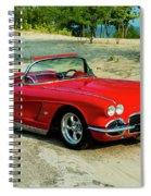 1962 Corvette Roadster Custom Spiral Notebook