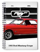 1965 Mustang 289 Coupe Spiral Notebook