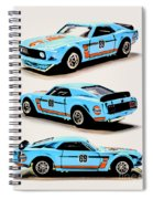 1969 Ford Mustang Boss 302 Spiral Notebook