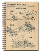 1982 Bobsled Antique Paper Patent Print  Spiral Notebook