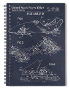 1982 Bobsled Blackboard Patent Print Spiral Notebook