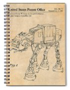 1982 Star Wars At-at Imperial Walker Antique Paper Patent Print Spiral Notebook
