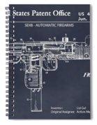 1982 Uzi Submachine Gun Blackboard Patent Print Spiral Notebook