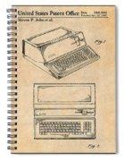 1983 Steve Jobs Apple Personal Computer Antique Paper Patent Print Spiral Notebook