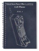 1988 Motorola Cell Phone Blackboard Patent Print Spiral Notebook