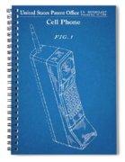1988 Motorola Cell Phone Blueprint Patent Print Spiral Notebook