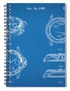 1999 Rolex Diving Watch Patent Print Blueprint Spiral Notebook