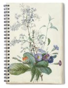 A Bouquet Of Flowers With Insects  Spiral Notebook