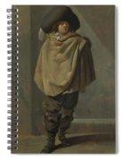 A Standing Man  Spiral Notebook