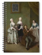 An Interior With Three Women And A Seated Man  Spiral Notebook