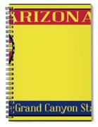 Arizona State License Plate Spiral Notebook