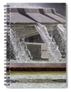 Arthur J. Will Memorial Fountain At Grand Park Spiral Notebook