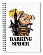 Barking Spider Halloween Design For Dog Lovers Light Spiral Notebook