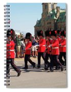 Changing Of The Guard In Ottawa Ontario Canada Spiral Notebook