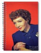 Claudette Colbert, Vintage Movie Star Spiral Notebook
