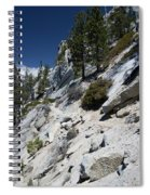Cyclist On Mountain Road, Lake Tahoe Spiral Notebook