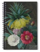 Four Peonies And A Crown Imperial  Spiral Notebook
