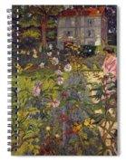 Garden At Vaucresson  Spiral Notebook