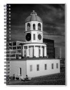 Halifax Town Clock 2017 Black  And White Spiral Notebook