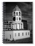 Halifax Town Clock 2017 Black  And White Spiral Notebook