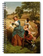 Mrs  Schuyler Burning Her Wheat Fields On The Approach Of The British  Spiral Notebook