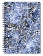 Munich Germany City Map Spiral Notebook