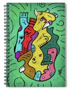 Psychedelic Animals Spiral Notebook