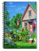 Scenic Garden And Antiques Store Spiral Notebook
