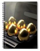 Six Golden Eggs In An Egg Carton Spiral Notebook