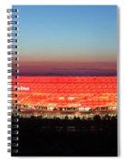 Soccer Stadium Lit Up At Dusk, Allianz Spiral Notebook