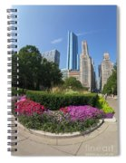 Summer Flowers In Bloom, Millennium Park, Chicago City Center, I Spiral Notebook