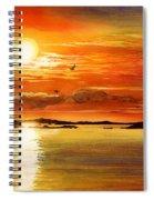 Sunset Lake Spiral Notebook