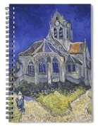 The Church In Auvers Sur Oise  View From The Chevet  Spiral Notebook