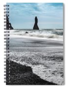 The Dramatic Black Sand Beach Of Reynisfjara. Spiral Notebook