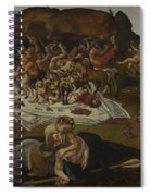 The Fight Between The Lapiths And The Centaurs  Spiral Notebook