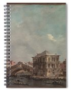 The Grand Canal Above The Rialto  Spiral Notebook