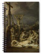The Lamentation Over The Dead Christ  Spiral Notebook