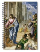 The Miracle Of Christ Healing The Blind  Spiral Notebook