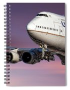 United Airlines Boeing 747-422 Spiral Notebook