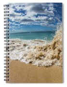 View Of Surf On The Beach, Hawaii, Usa Spiral Notebook