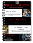 21st Birthday Venue Melbourne Spiral Notebook